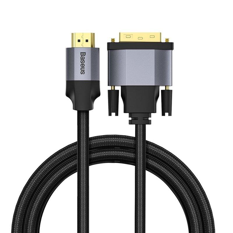 Cablu Video Convertor Baseus Enjoyment DVI to HDMI 4K HD 1M - CAKSX-F0G - Negru/Gri
