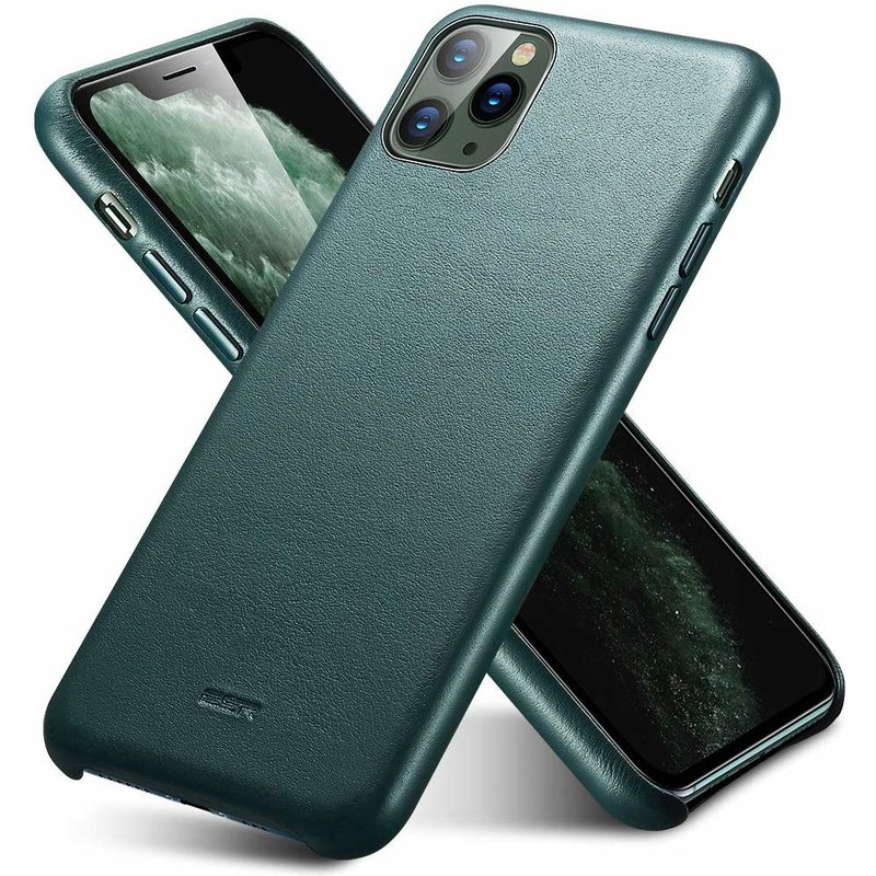 Husa iPhone 11 Pro Max ESR Metro Leather - Pine Green