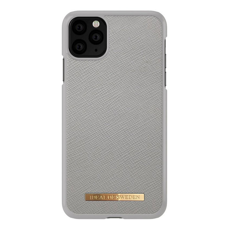 Husa iPhone 11 Pro Max iDeal of Sweden Saffiano - Light Grey