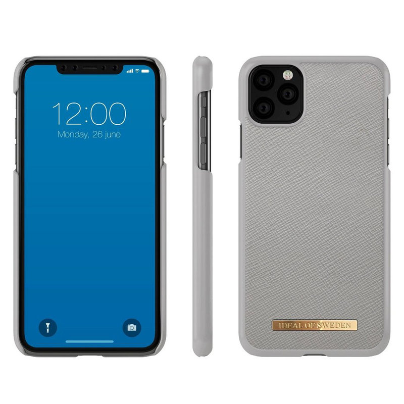 Husa iPhone 11 Pro Max iDeal of Sweden Saffiano - Light Grey