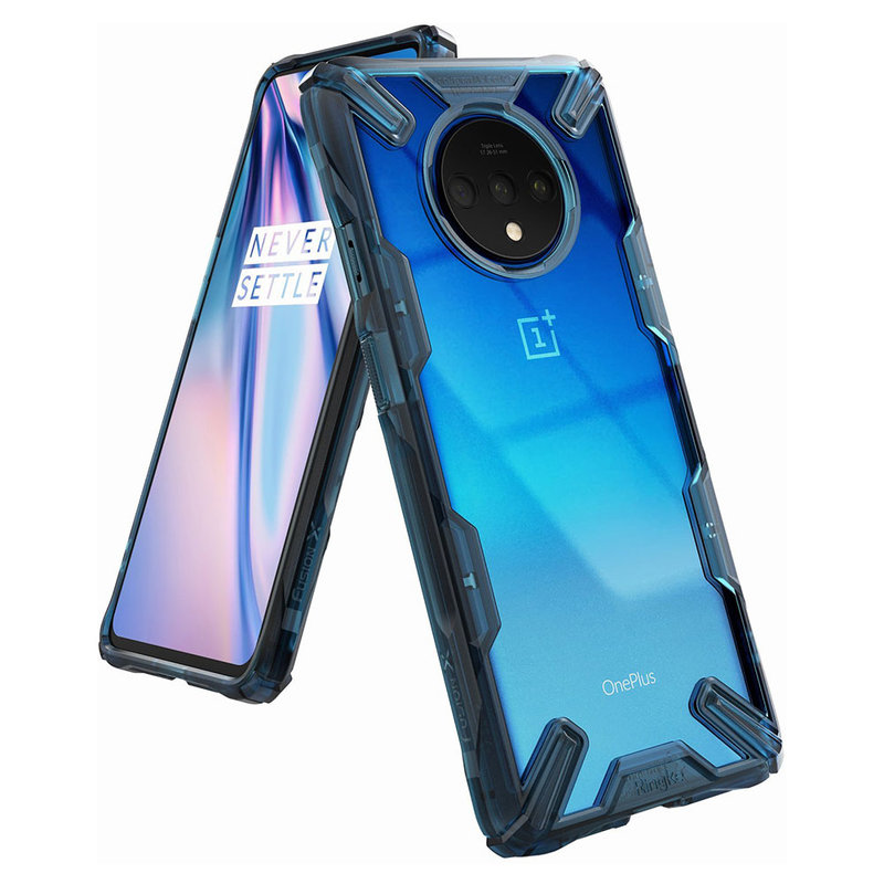 Husa OnePlus 7T Ringke Fusion X - Space Blue
