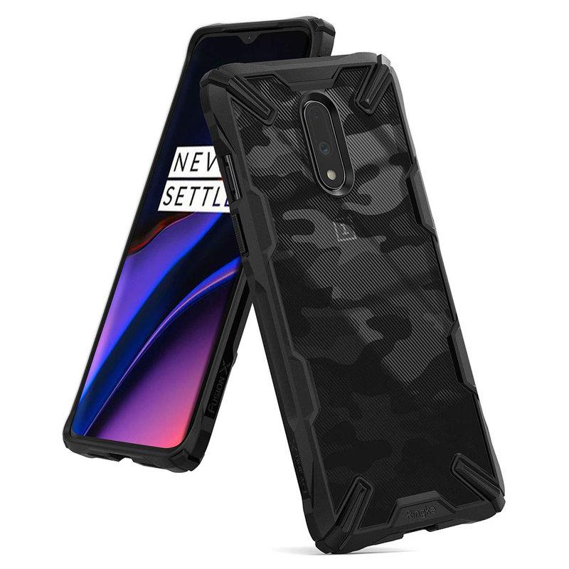 Husa OnePlus 7 Ringke Fusion X Design - Camo Black