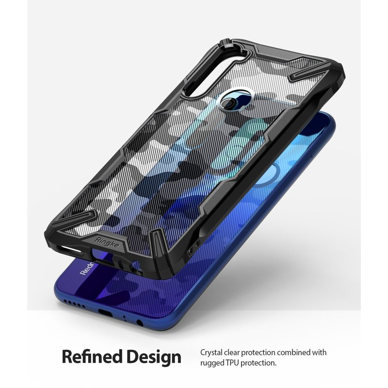 Husa Xiaomi Redmi Note 8 Ringke Fusion X Design - Camo Black
