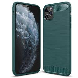 Husa iPhone 11 Pro Max TPU Carbon - Verde