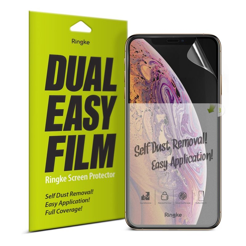 Folie OnePlus 7 Ringke Dual Easy Full Coverage 2 Pack - Clear