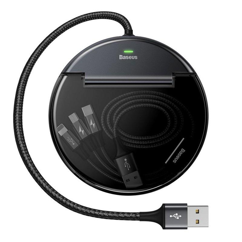 Statie Incarcare Auto Baseus Sharing For Whole Car + Cablu De Incarcare 3A - CAHUB-FX01 - Negru