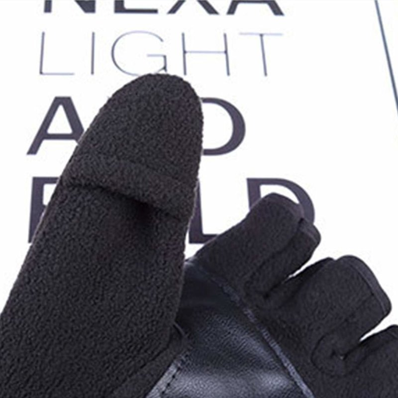 Manusi Touchscreen Unisex Fingerless Polar - Marimea XL - Negru