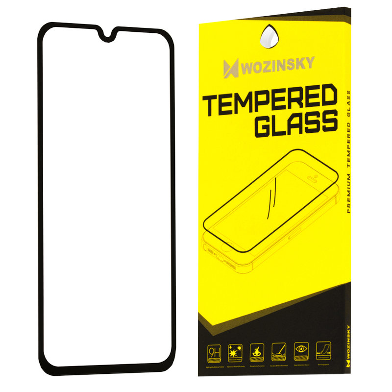 Folie Protectie Wozinsky Samsung Galaxy A40 FullGlue FullCover - Black