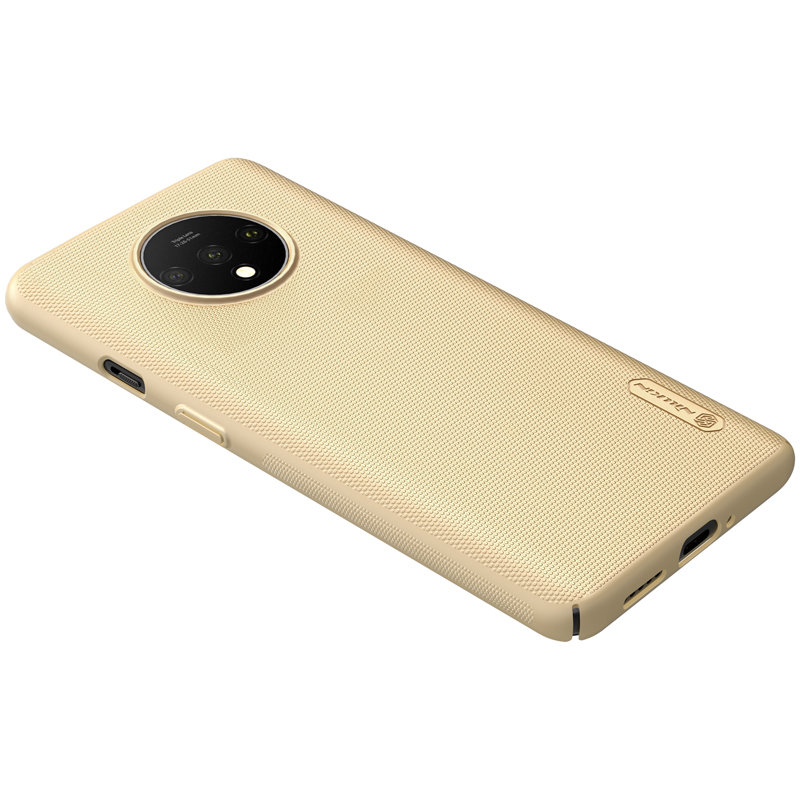 Husa OnePlus 7T Nillkin Super Frosted Shield - Gold