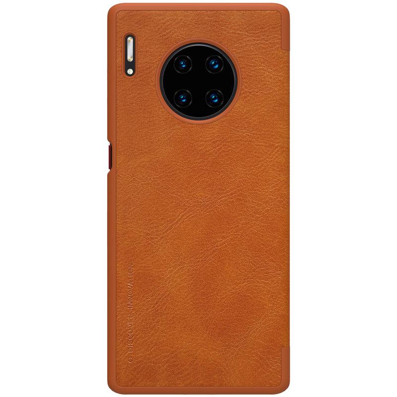 Husa Huawei Mate 30 Pro Nillkin QIN Leather - Maro