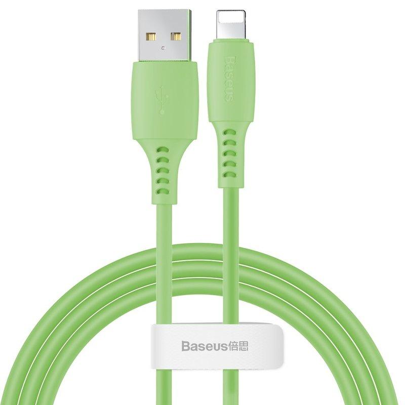 Cablu De Date Baseus Colourful USB To Lightning 2.4A 1.2m - CALDC-06 - Verde