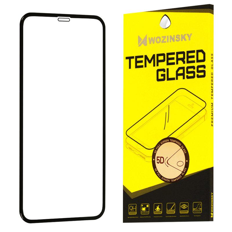 Folie Sticla iPhone XS Wozinsky 5D Full Screen Tempered Glass - Negru