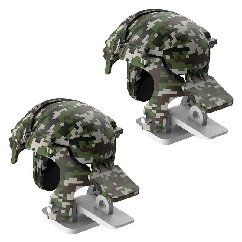 Butoane Gaming Telefon/Tableta Baseus Gamo GA03 Helmet Pubg Gadget - GMGA03-A0G - Gray Camouflage
