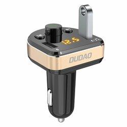 Incarcator Auto Cu Modulator FM Dudao R2Pro Bluetooth Transmitter MP3 2xUSB 3.4A - Negru