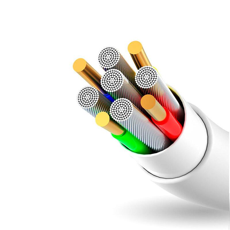 Cablu de date Dudao L1 USB to Micro-USB Fast Charging 3A TPE 1M - Alb