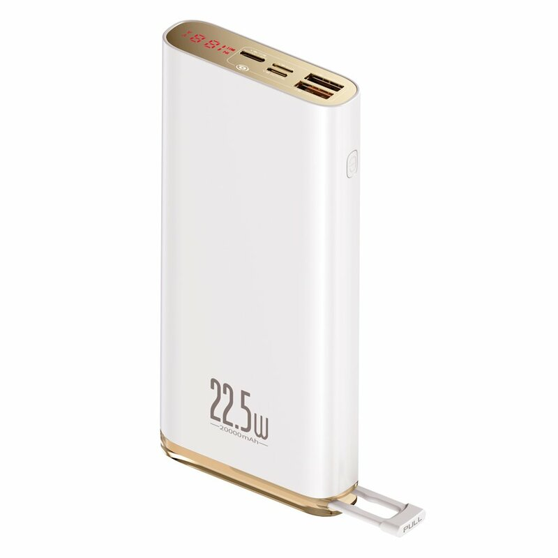Baterie Externa Baseus Starlight Digital Display Golden Pin Design 20000mAh - PPXC-02 - Alb