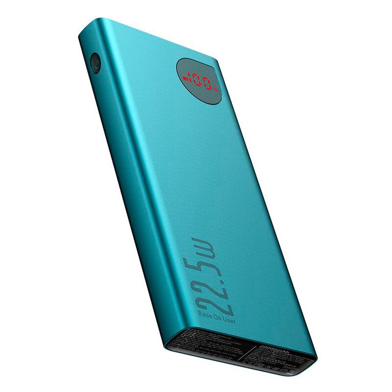 Baterie Externa Baseus Adaman Metal Digital Display 20000mAh 22.5W QC3.0 - PPIMDA-A06 - Verde