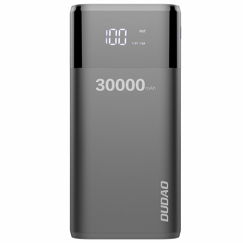 Baterie Externa Dudao K8Max 30000mAh 4xUSB/Micro-USB/Type-C/Lightning With Display 4A - Negru