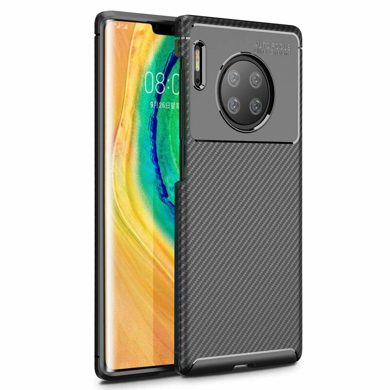 Husa Huawei Mate 30 Pro Mobster Carbon Skin Negru