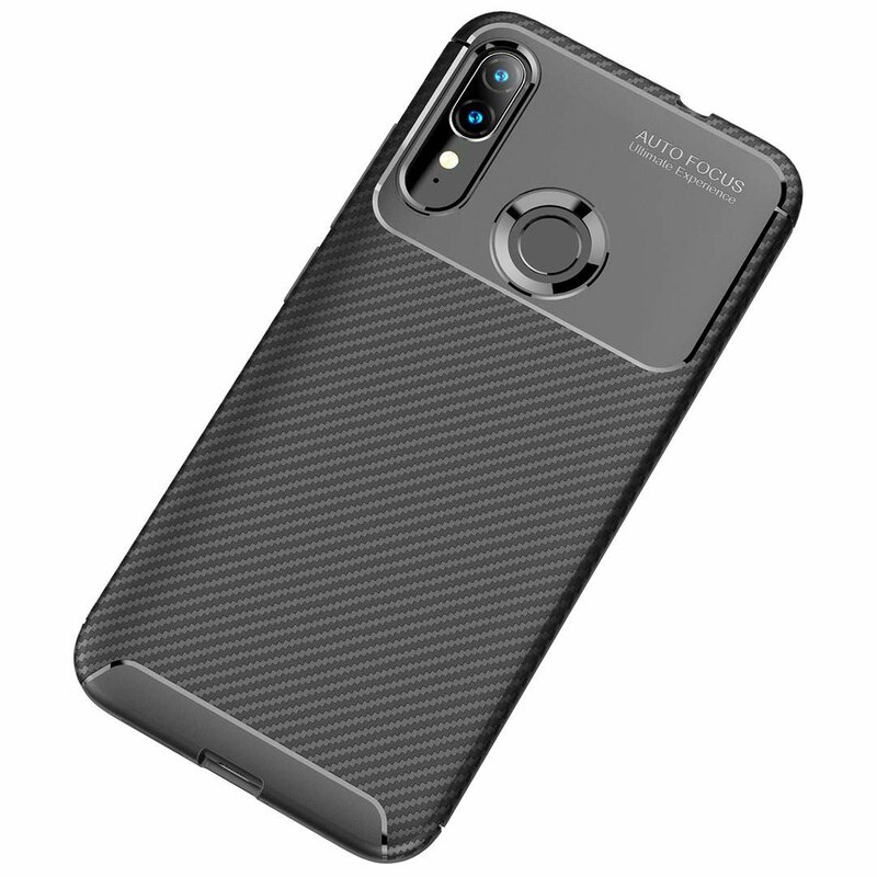 Husa Motorola Moto E6 Plus Mobster Carbon Skin Negru