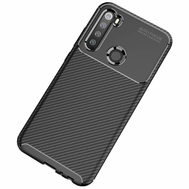 Husa Xiaomi Redmi Note 8 Mobster Carbon Skin Negru