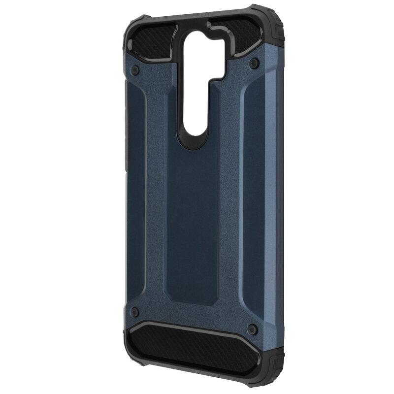 Husa Xiaomi Redmi Note 8 Pro Mobster Hybrid Armor - Albastru