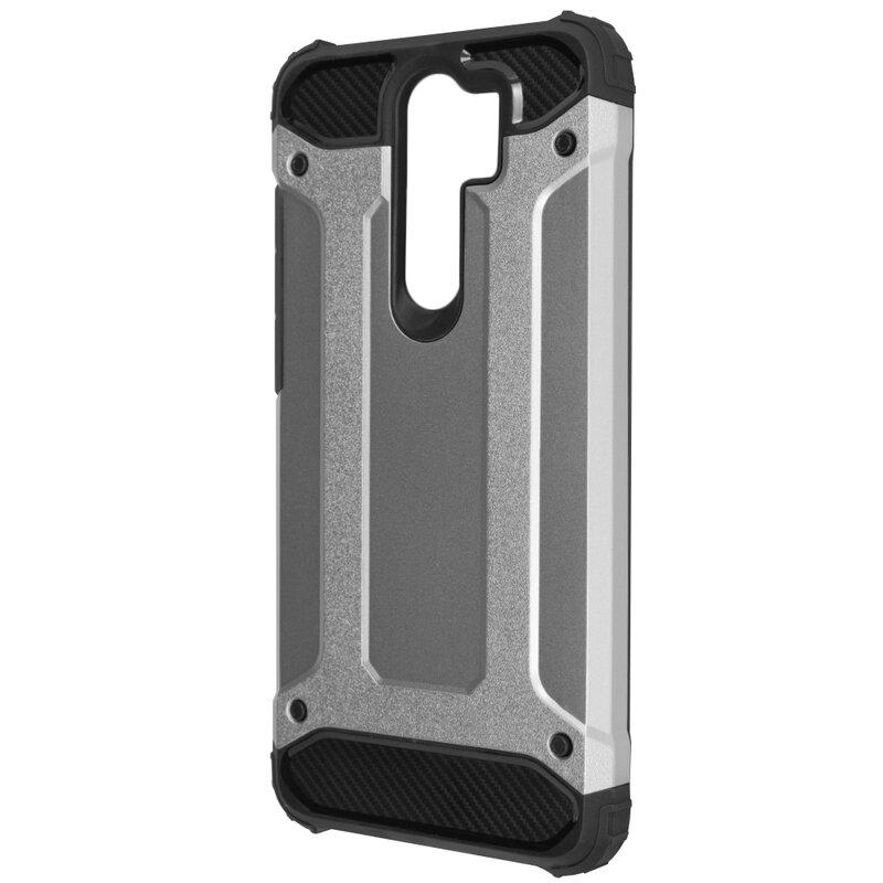 Husa Xiaomi Redmi Note 8 Pro Mobster Hybrid Armor - Argintiu