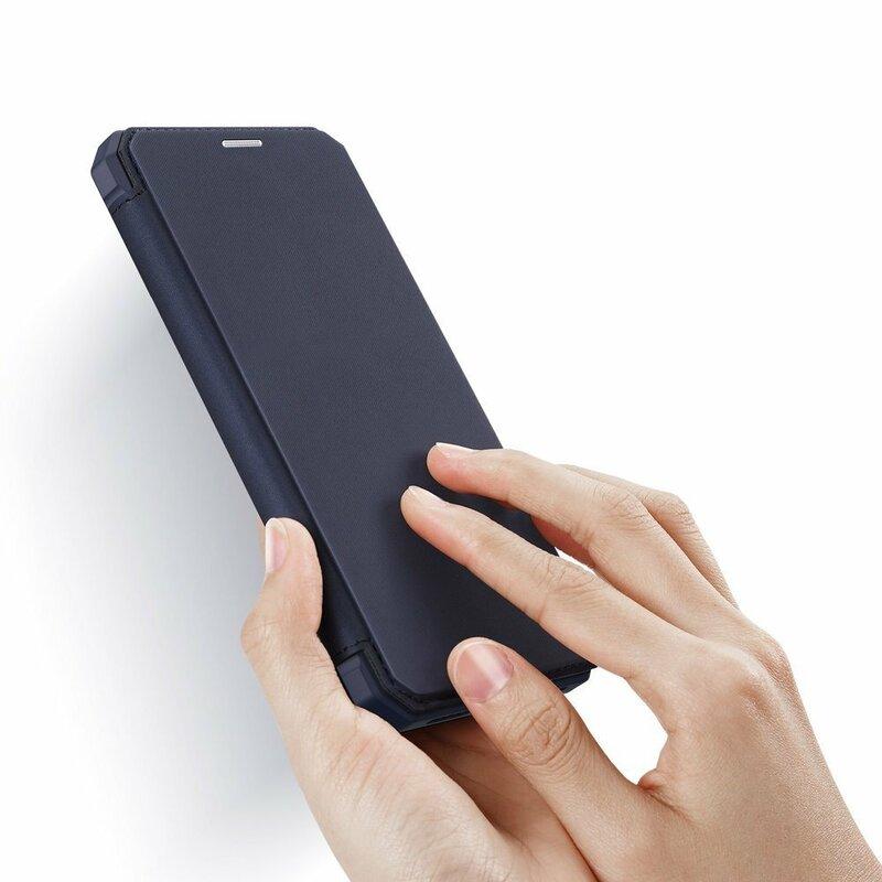 Husa iPhone 11 Dux Ducis Skin X Series Flip Stand Book - Albastru