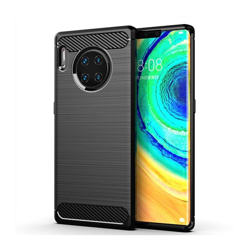 Husa Huawei Mate 30 Pro TPU Carbon - Negru