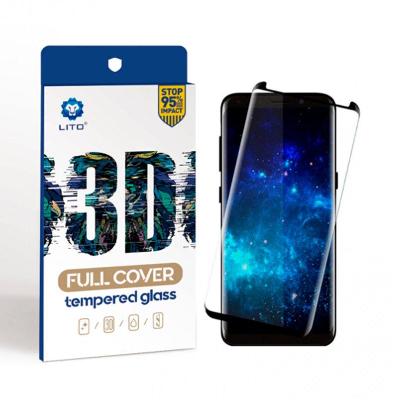 Folie Sticla Xiaomi Mi CC9 Pro Lito 3D Full Cover Cu Rama - Black