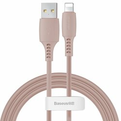 Cablu De Date Baseus Colourful USB To Lightning 2.4A 1.2m - CALDC-04 - Roz