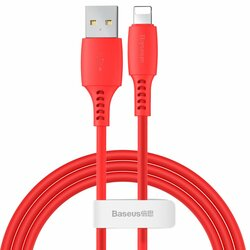 Cablu De Date Baseus Colourful USB To Lightning 2.4A 1.2m - CALDC-09 - Rosu