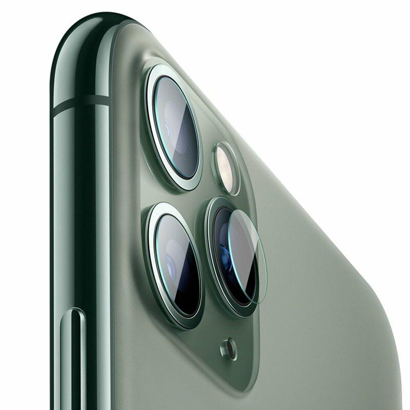 [Pachet 2x] Folie Sticla Camera iPhone 11 Pro Max Baseus Lens Tempered Film - Clear