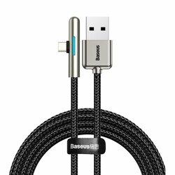 Cablu De Date Baseus Iridescent Lamp 90° Elbow USB To Type-C 4A 40W 2m - CAT7C-C01 - Negru