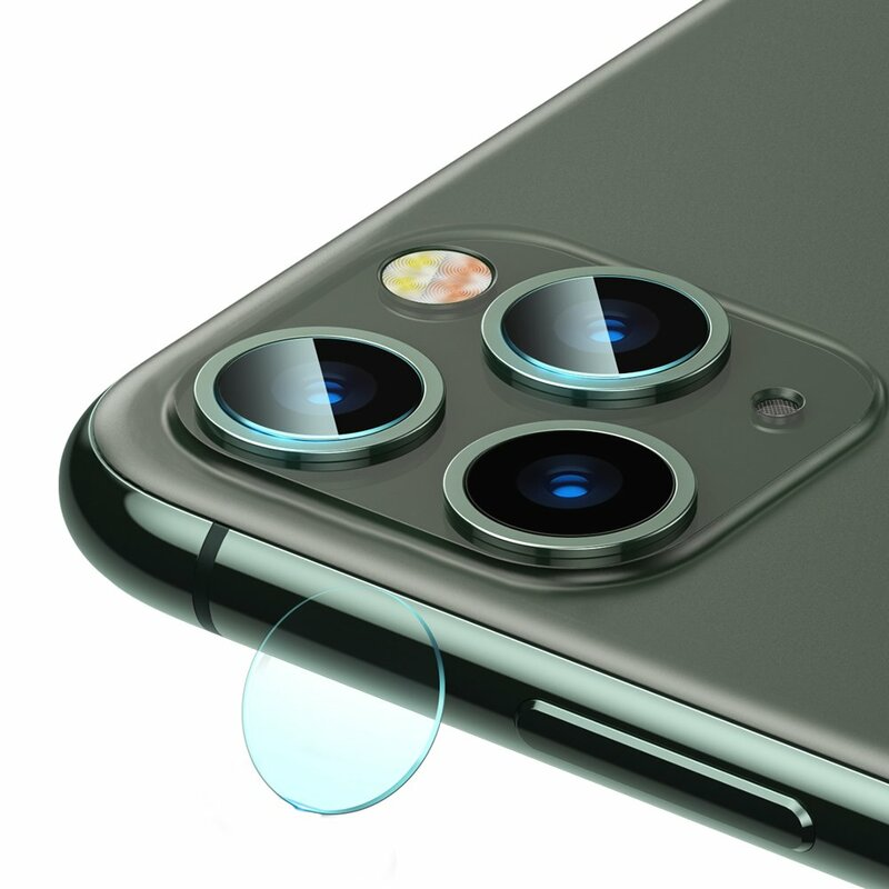 [Pachet 2x] Folie Sticla Camera iPhone 11 Baseus Gem Lens - SGAPIPH61S-JT02 - Clear