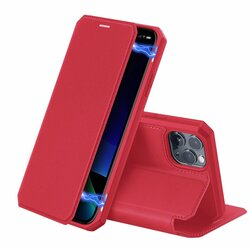 Husa iPhone 11 Pro Max Dux Ducis Skin X Series Flip Stand Book - Rosu