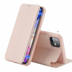Husa iPhone 11 Dux Ducis Skin X Series Flip Stand Book - Roz