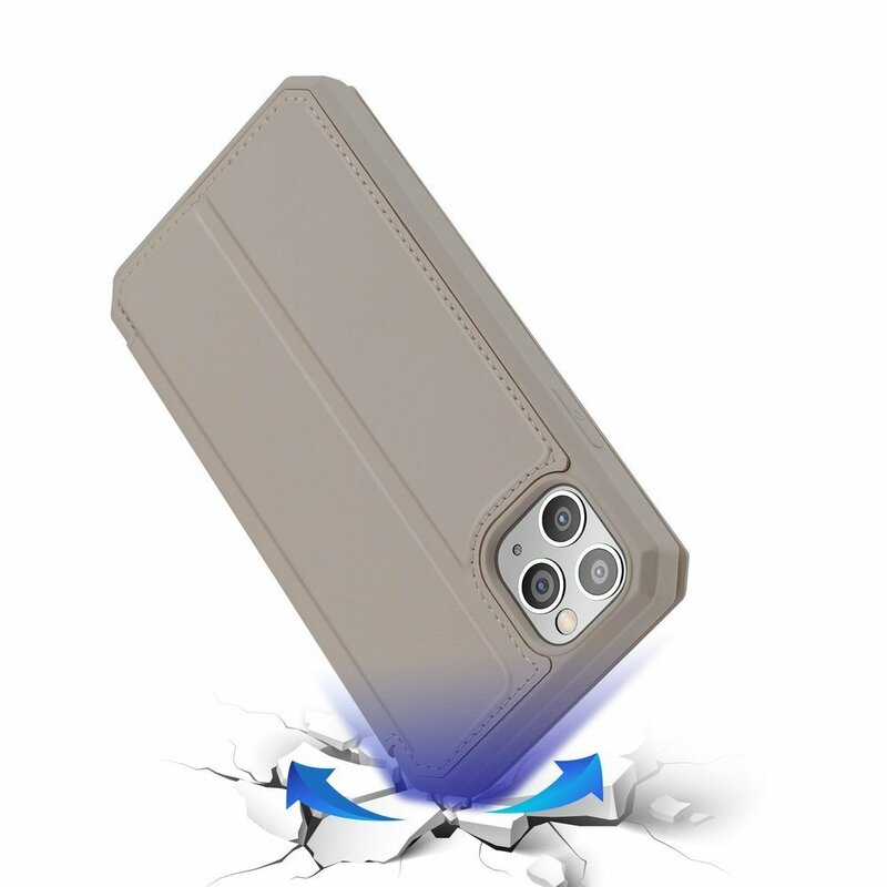 Husa iPhone 11 Pro Max Dux Ducis Skin X Series Flip Stand Book - Auriu
