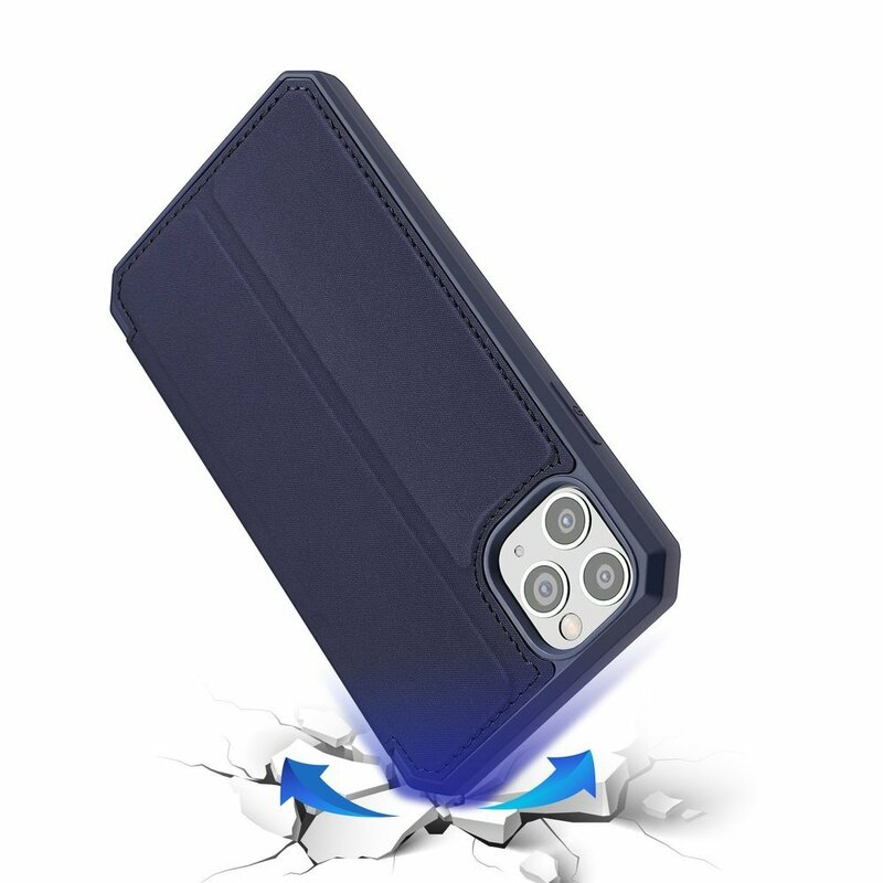 Husa iPhone 11 Pro Max Dux Ducis Skin X Series Flip Stand Book - Albastru