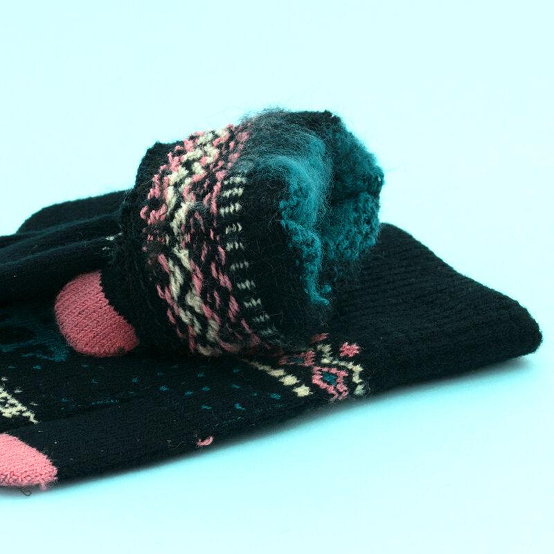 Manusi touchscreen dama Magic Winter, lana, negru