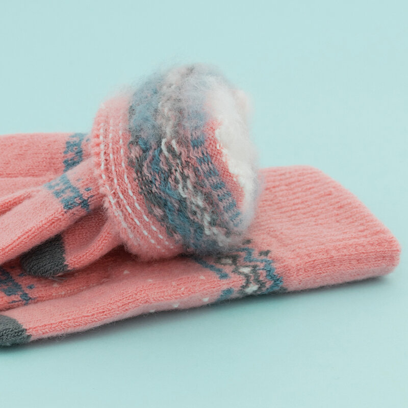 Manusi Touchscreen Magic Winter Femei Small Size - Roz