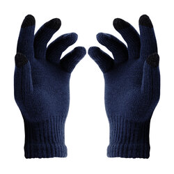 Manusi touchscreen unisex Acrylic Fiber, acrilic, albastru inchis
