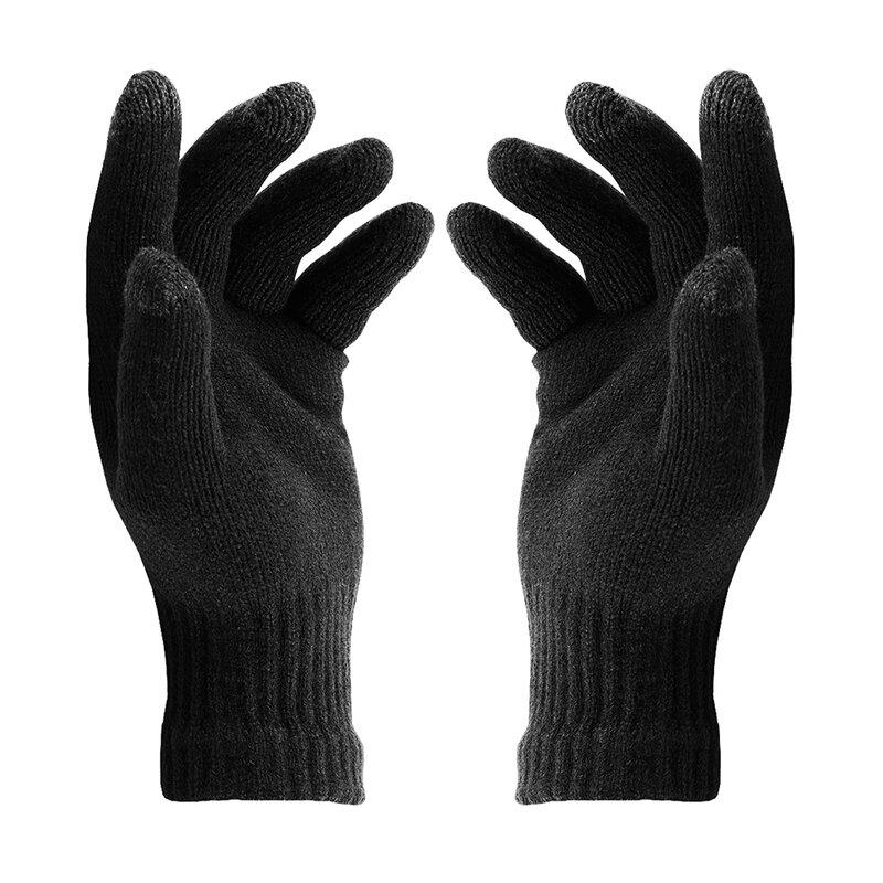 Manusi touchscreen unisex Acrylic Fiber, acrilic, negru