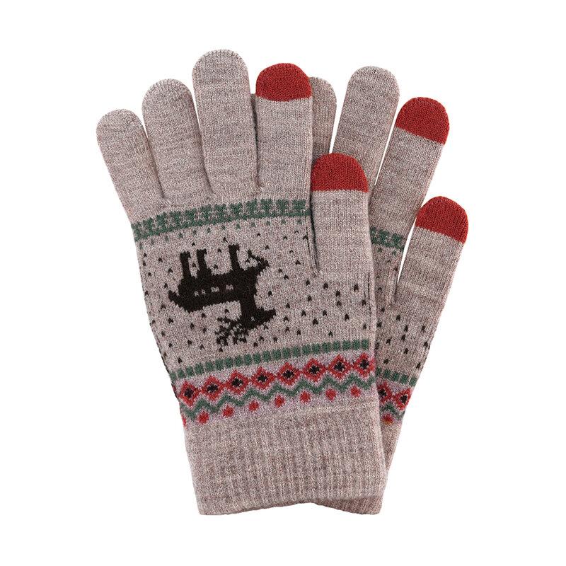 Manusi touchscreen dama Magic Winter, lana, gri