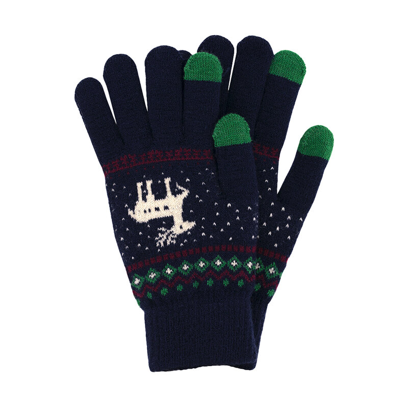 Manusi touchscreen dama Magic Winter, lana, albastru