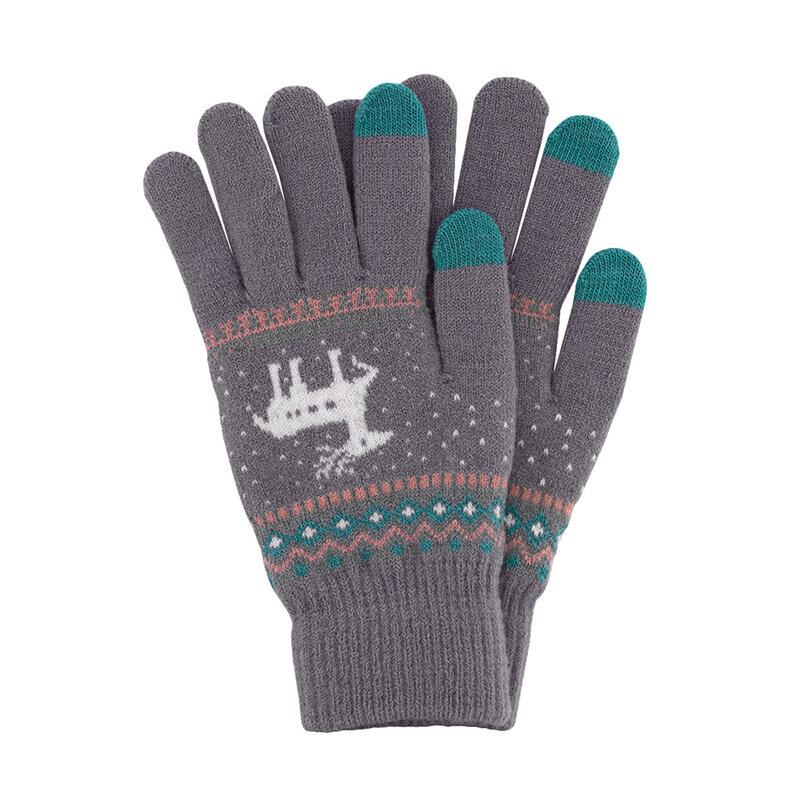 Manusi touchscreen dama Magic Winter, lana, mov