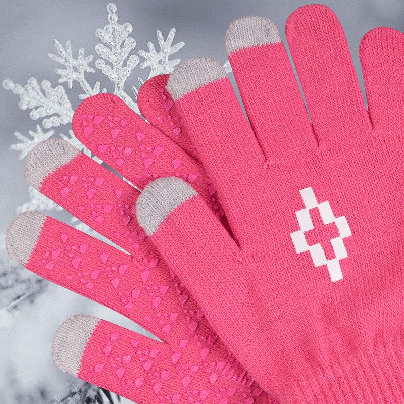 Manusi touchscreen unisex, Acrylic Symbol, acrilic, roz