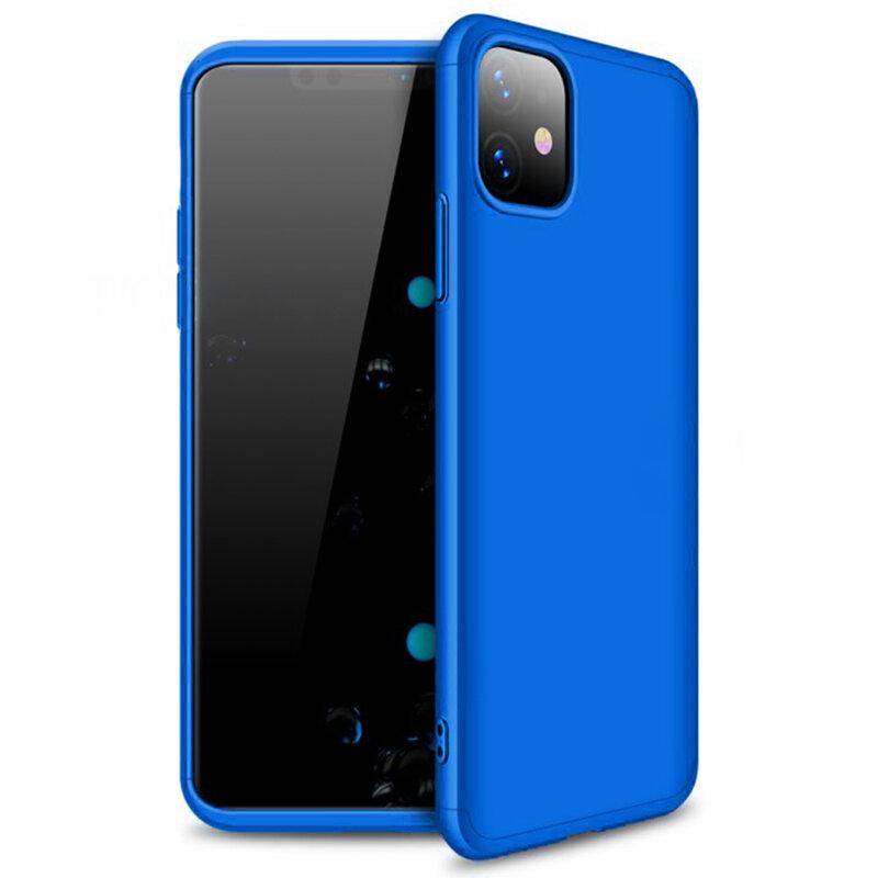 Husa iPhone 11 GKK 360 Full Cover Albastru