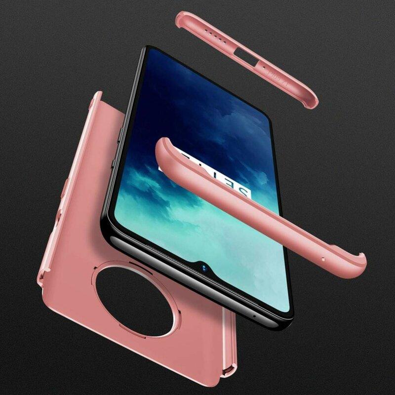 Husa OnePlus 7T GKK 360 Full Cover Roz