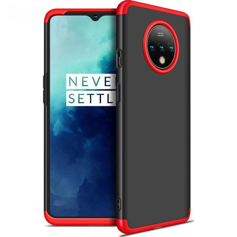Husa OnePlus 7T GKK 360 Full Cover Negru-Rosu